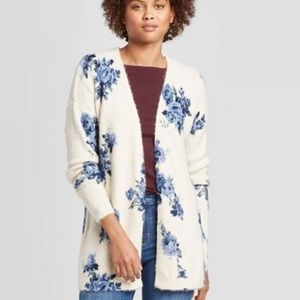 {Knox rose} blue rose open cardigan